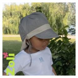 Chapeau zoli bébé/enfant en lin - Taupe/Beige