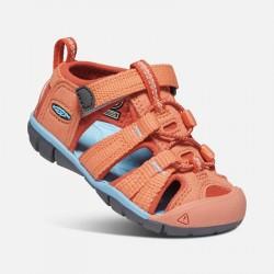 Sandales de marche bébé - Keen Seacamp - Coral/Poppy Red