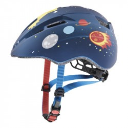 Casque vélo bébé - UVEX Kid 2 CC - Dark Blue Rocket Mat