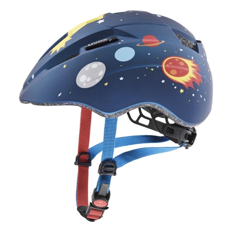 Casque vélo bébé - UVEX Kid 2 CC - Dark Blue Rocket Mat