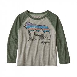 Tee-shirt anti UV bébé manches longues Baby Capilene® 1 Patagonia - Drifter Grey X-Dye