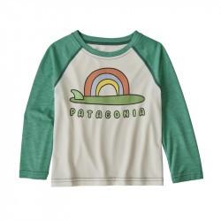 Tee-shirt anti UV bébé manches longues Baby Capilene® 1 Patagonia - Birch White