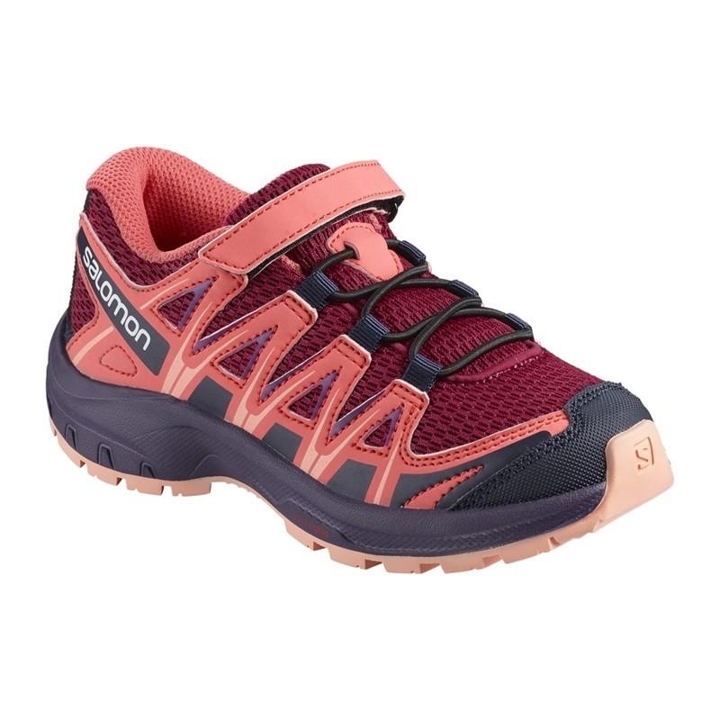 Chaussure de randonnée enfant Salomon - XA PRO 3D Kid - Du 26 au 30 - Cerise/Dubarry/Peach