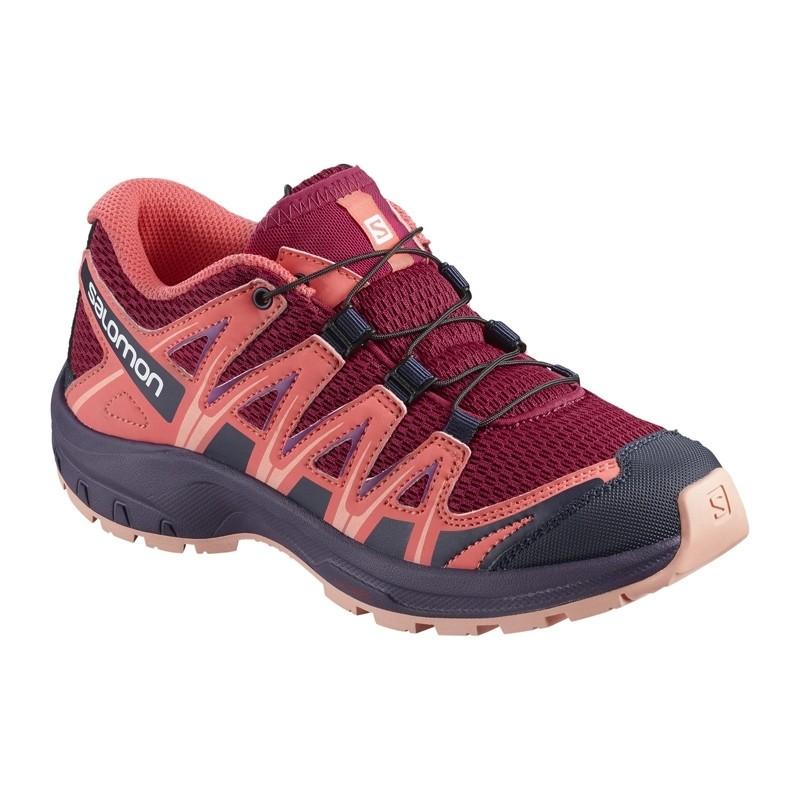 Chaussure de randonnée enfant Salomon - XA PRO 3D Junior - Du 31 au 35 - Cerise/Dubarry/Peach