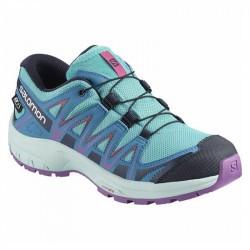 XA PRO 3D Junior CSWP - Chaussure Salomon enfant Imperméable - 31 au 35 - Turquoise/Violet