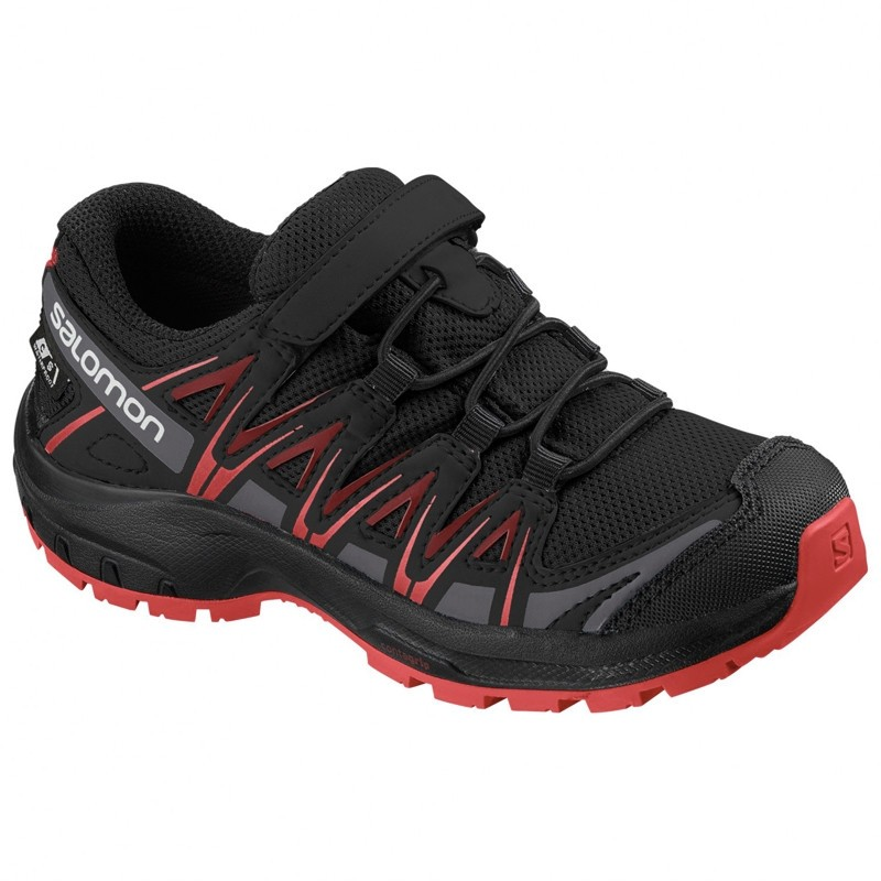 XA PRO 3D Kid CSWP - Chaussure Salomon enfant Imperméable - 26 au 30 - Black/Black/High Risk