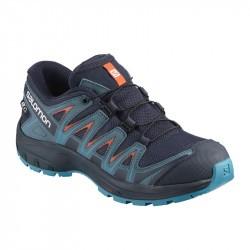XA PRO 3D Junior CSWP - Chaussure Salomon enfant Imperméable - 31 au 35 - Navy Blaze/Mallar