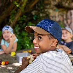 Casquette enfant buff - Trucker cap kids - Kasai Night Blue