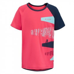 T-shirt VTT Enfant - Kids Moab T-Shirt - Bright Pink - VAUDE