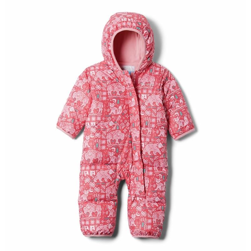 Combinaison bébé hiver en duvet Columbia Snuggly Bunny - Bright Geranium
