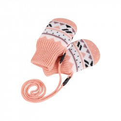 Moufles bébé en laine Merinos - Powder Pink - Huomen - REIMA