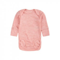 Body en laine merinos - Manches longues - Powder Pink - UTU - REIMA