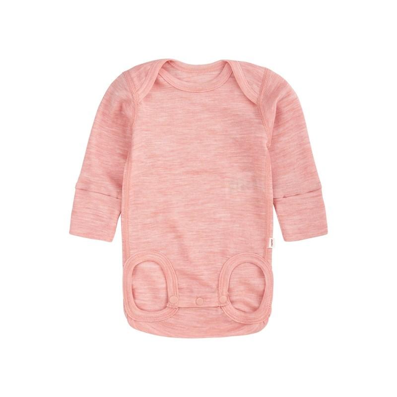 Body en laine merinos - Manches longues - Powder Pink - UTU - REIMA