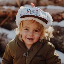 Casquette hiver enfant Hello Hossy Snow Moumoute ambiance