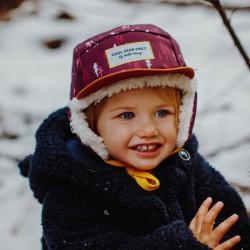 Casquette hiver enfant Hello Hossy Forest Moumoute photo petite fille