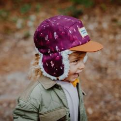 Casquette hiver enfant Hello Hossy Forest Moumoute petite fille profil