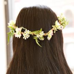 Collier de fleurs à composer Huckleberry tête