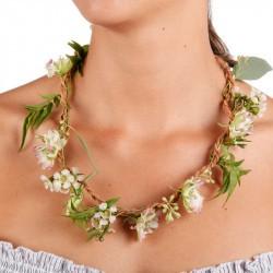 Collier de fleurs à composer Huckleberry porté