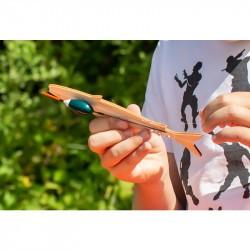 Kit de pêche pour enfant : fil et hameçon Huckleberry installation du fil