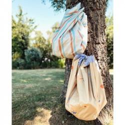 Tapis de jeu nomade Play and Go Outdoor storage bag stripes