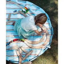 Tapis de jeu nomade Play and Go rayures