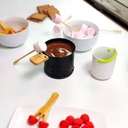 Lot 2 poêlons pour transformer lumi raclette en lumi choco Cookut