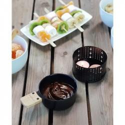 Poêlons pour transformer lumi raclette en lumi choco Cookut