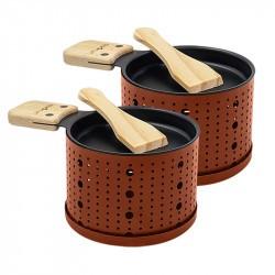 Raclette à la bougie Cookut Set 2 ou 4 personnes Terracotta