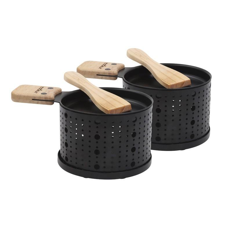 Raclette à la bougie Cookut Set 2 ou 4 personnes Noir