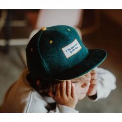 Casquette enfant Hello Hossy Velours Sweet Emerald