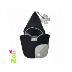 Capuchon bébé Zoli - Perle - Noir/Gris