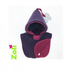 Capuchon bébé Zoli - Plumes - Prune/Fushia