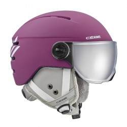 Casque Cébé Fireball Junior avec visière - Matt Purple White