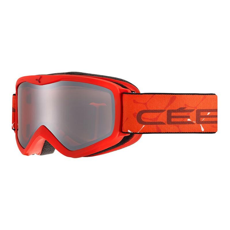 Masque de ski enfant Cébé Teleporter - 3 ans/6 ans - Matt Red Orange