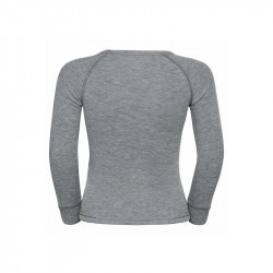 Tshirt Active Warm Eco Trend Kid - Odlo - Grey Melange - Graphic