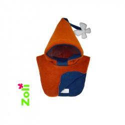 Capuchon bébé Zoli - Orange/Bleu Foncé