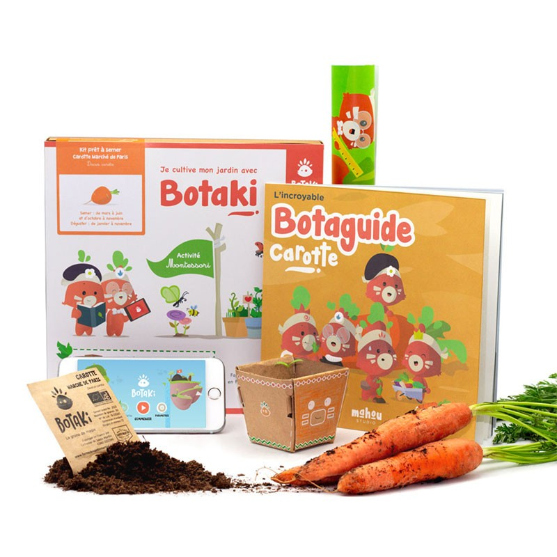 Kit d'activités - Semis carotte - Botaki