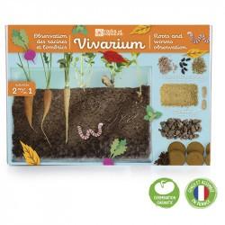 Vivarium racines et vers de terre - Radis et Capucine