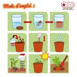 La valisette du jardinier - Radis et Capucine - mode d'emploi