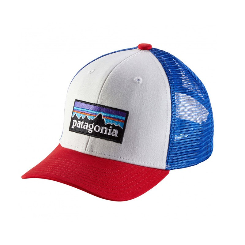 Casquette enfant Patagonia - Kids trucker hat - P6 Logo : White