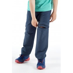 Vaude pantalon de rando enfant Detective Stretch bleu