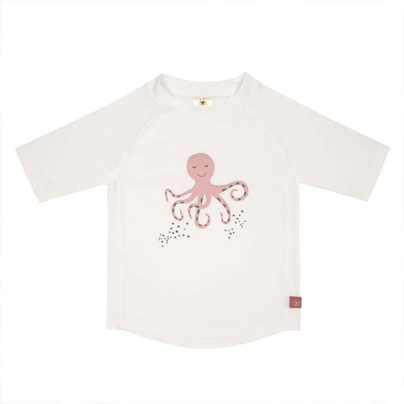 T-shirt de bain bébé anti-uv - octopus blanc
