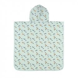 Poncho microfibres bébé - Lassig menthe