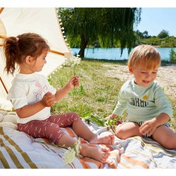 t-shirt anti-uv bébé Lassig menthe