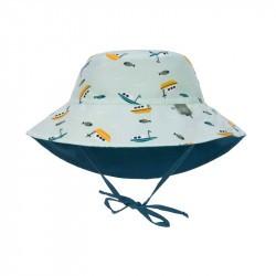 Chapeau anti-UV bébé réversible - Lassig - bateau