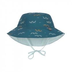 Chapeau anti-UV bébé réversible - Lassig - serpent de mer