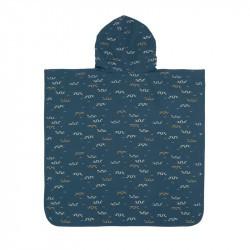 Poncho microfibres pour bébé - Lassig - bleu