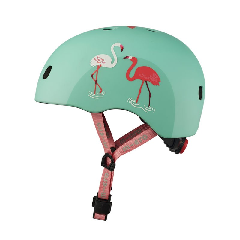 Casque bol enfant  Micro - 3-6 ans  (48 - 53 cm ) - Flamingo