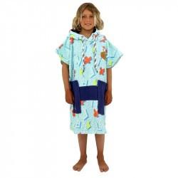 Poncho surf enfant - 6 à 9 ans - All-in - Thunder/Navy