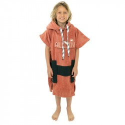 Poncho surf enfant - 6 à 9 ans - All-in - Gammer/Brown